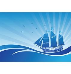 Sail ship background3 vector image