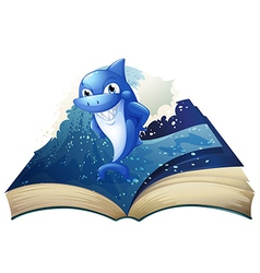 Smiling Shark Book vector image