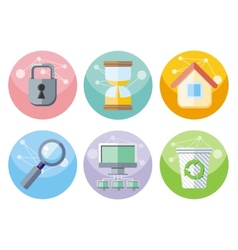 User interface icons set isolated on white vector image