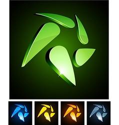 3d swirl emblems vector image