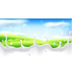 Abstract background with blur and a milk splash vector