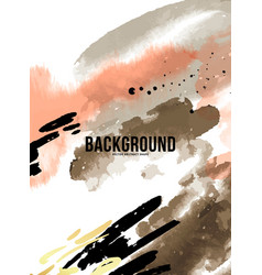 abstract orange ink paint background acrylic vector image