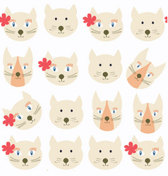 adorable cats seamless pattern it is located in vector image