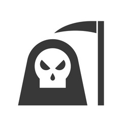 Angel of death and scythe halloween related icon vector