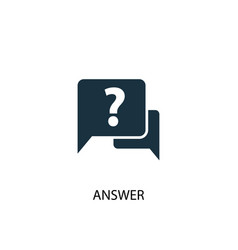 Answer icon simple element vector