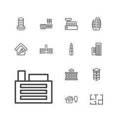 Apartment icons vector