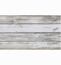 Background white painted wooden planks vector