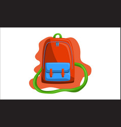 bag back to school vector image