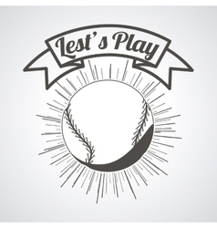 baseball league design vector image