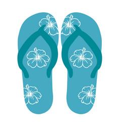 Beach flip-flops vector