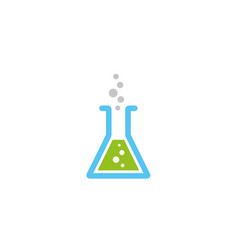 Beaker lab flask with a chemical substance inside vector