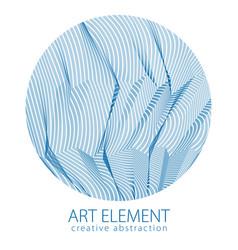 Beautiful art element linear texture surface vector