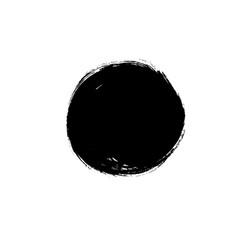 black paint circle hand painted ink blob vector image