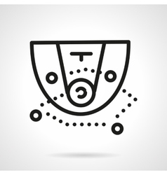 Black simple line basketball tactic icon vector image