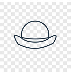 bowler hat concept linear icon isolated on vector image