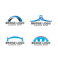 Bridge logo icon template vector