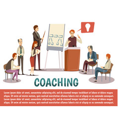 Business coaching background vector