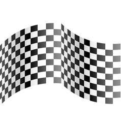 checkered curve on white design race sport vector image