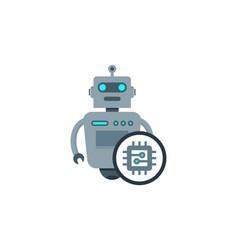 chip robot logo icon design vector image