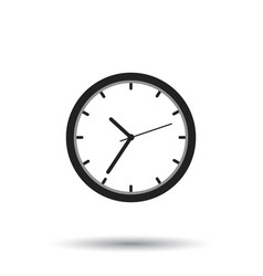 Clock icon flat design on white background vector