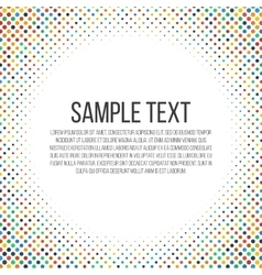 Colorful dots frame vector