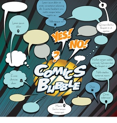 Comics bubbles dialog vector image