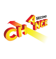 concept second chance in 3d vector image
