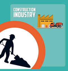 construction industry concept vector image