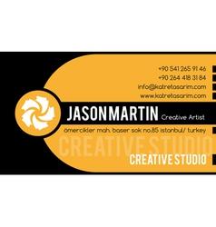 Creative yellow business card vector