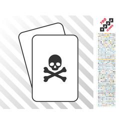 death cards with bonus vector image