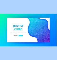 Dentist clinic landing page vector