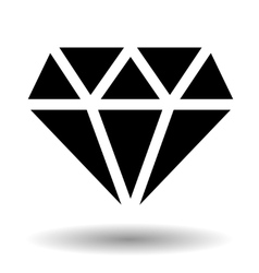 Diamond icon isolated over white vector image