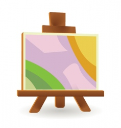 Easel board vector