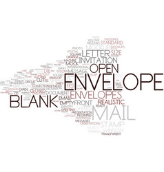 Envelope word cloud concept vector