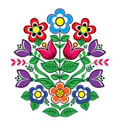 Floral design polish folk pattern vector