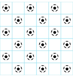 Football Ball Blue Grid White Background vector