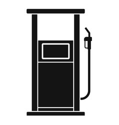 Fuel refill stand icon simple style vector