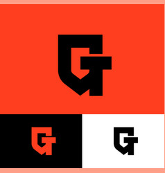 G t monogram shield gt logo vector