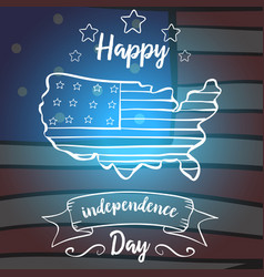 Greeting card independence day collection design vector