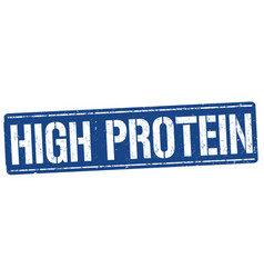 high protein grunge rubber stamp vector image