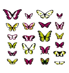 Highly detailed fantasy butterflies vector