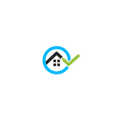 house rent search real estate logo rental vector image