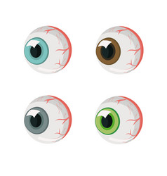 Human eyes four eyes different colors isolate vector