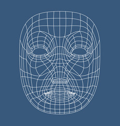 Human face mesh 3d modeling recognition head scan vector