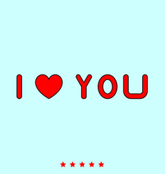 i love you it is icon vector image