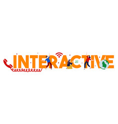 Interact interaction interactive interacting group vector