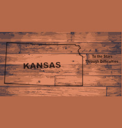 Kansas map brand vector
