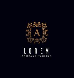 Letter a monogram logo design concept template vector