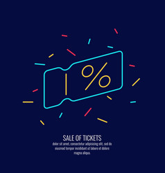 Linear poster sale of tickets modern vector