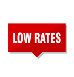 low rates red tag vector image